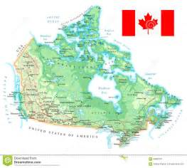 canada detailed topographic map illustration stock