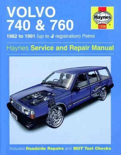 Volvo 740 760 Petrol 1982 1991 Haynes Service Repair