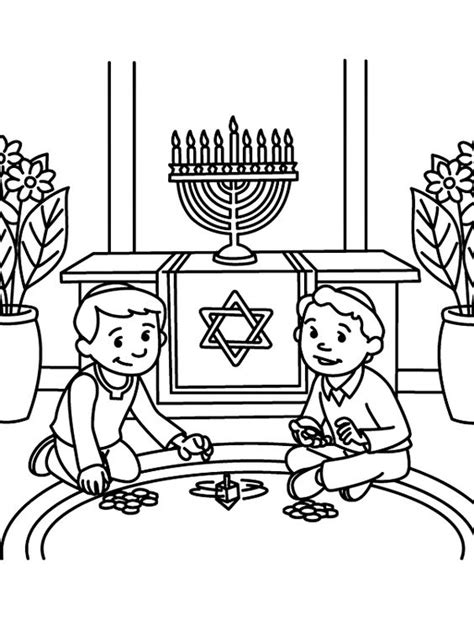 Dreidel Coloring Pages free printable hanukkah coloring pages for best coloring pages for