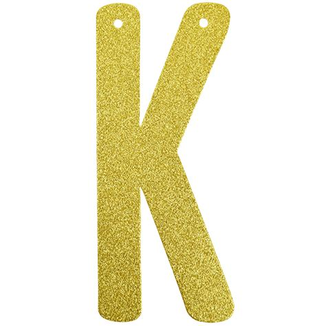 Star Shaped Lights by Glitter Letter Banner Garland 6inch Gold Letter K