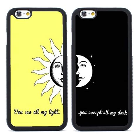 Iphone 6 Plus Soft Sheep Skin Free 2pcs Colour 2pcs you are my sun and moon bff rubber for iphone 4
