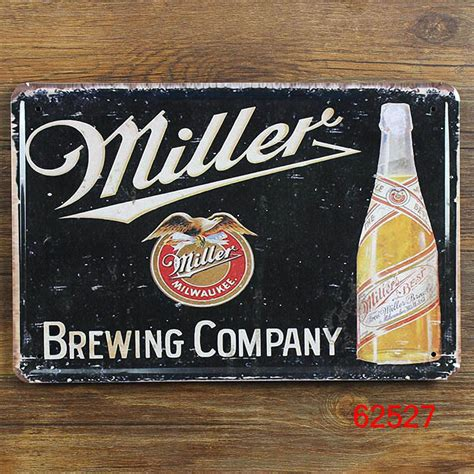 wine beer vintage home decor tin sign 8 quot x12 quot metal signs metal craft miller beer tin plate signs art metal painting