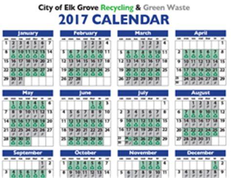 Calendar Trash Recycle Schedule 2017