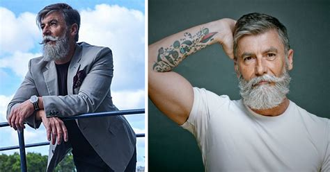 stylish 60 year old mens 60 year old man grows a beard that turns him into a