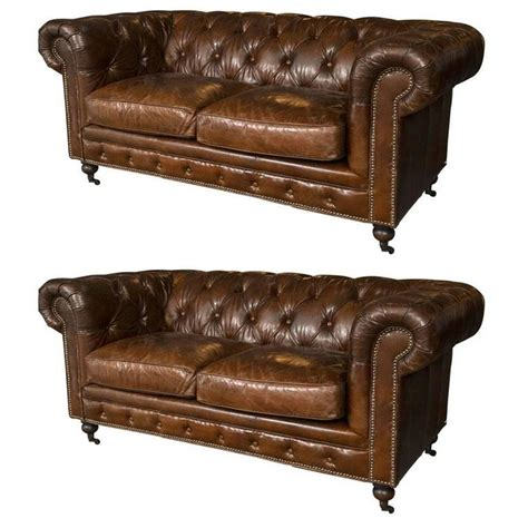 english settee pair of english georgian style chesterfield sofa settee