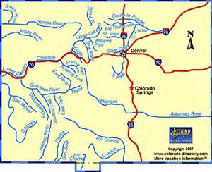 colorado whitewater rafting kayaking river map co