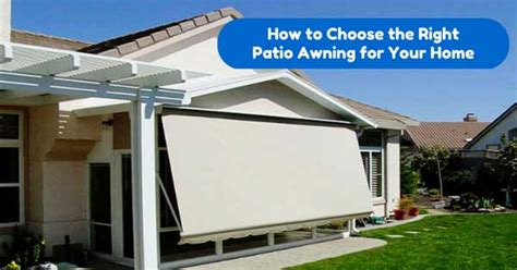 Ready Made Outdoor Awnings Should You Choose An Electronic Retractable Patio Awning