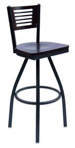 commercial swivel bar stools with backs metal frame commercial swivel barstool w slotted wood