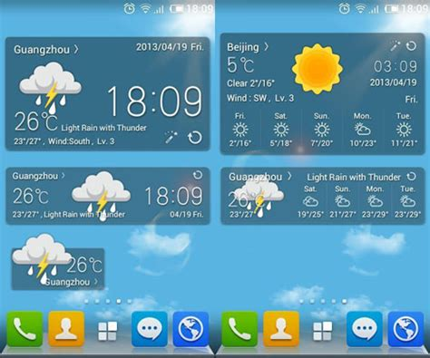 weather widget android 20 beautiful weather widgets for your android home screens hongkiat