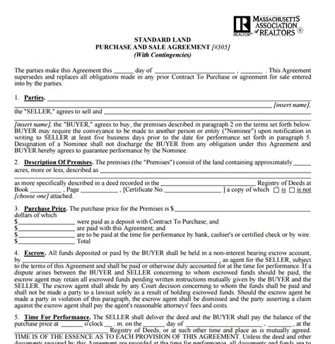 Land Purchase Contract Template free contract templates word pdf agreements