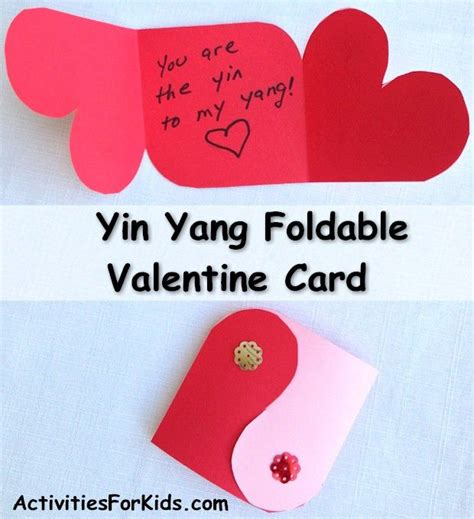 Yin Yang Valentines Card Template yin yang card pattern yin yang activities and