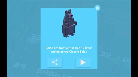 how to get last rare character on crossy road rare classic baloo jungle book disney crossy road secret