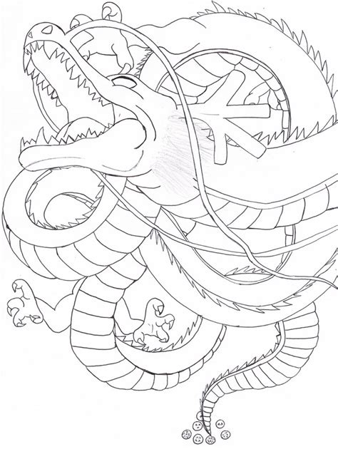 dragon ball z shenron coloring pages shenron by kyoko12337 on deviantart