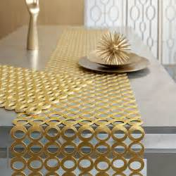 chilewich pressed mod table runner modern table