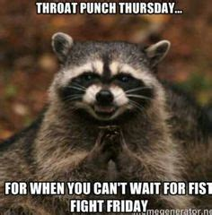 Throat Punch Meme - 1000 ideas about throat punch thursday on pinterest