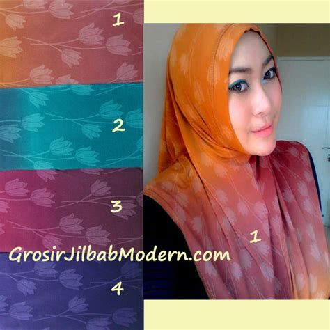 Kerudung Bunga Gradasi jilbab syria tulip gradasi grosir jilbab modern jilbab