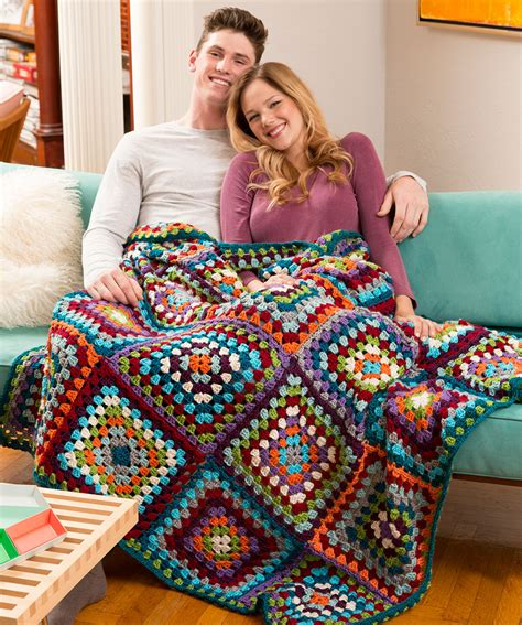 decke muster s classic throw crochet pattern