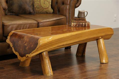 log bench legs sold cedar log vintage rustic coffee table or bench