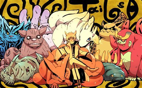 Naruto and Tailed Beast 07 Wallpaper HD