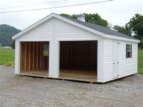 Two Car Garage With Carport by Usa Portable Buildings Barns Shed Self Storage Units