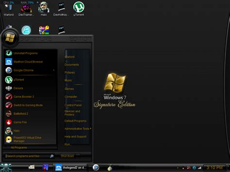 themes for windows 7 start menu download signature edition reloaded themes visual style