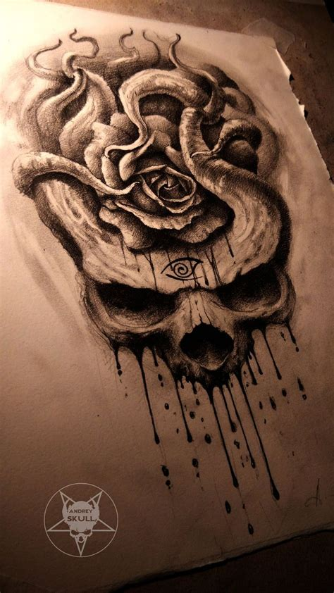 gothic rose tattoos the by andreyskull on deviantart dibujos