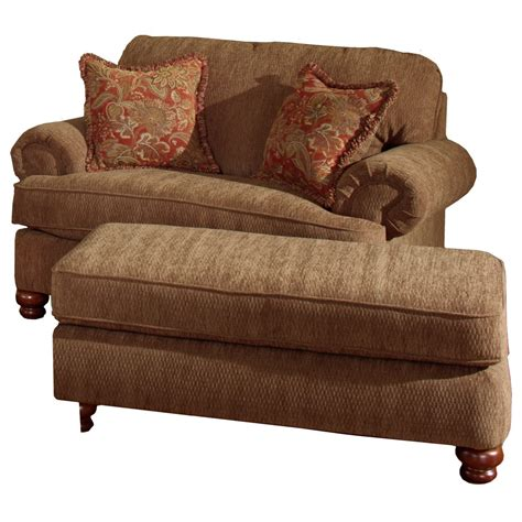 chair a half with ottoman chair and a half ottoman by jackson furniture wolf and