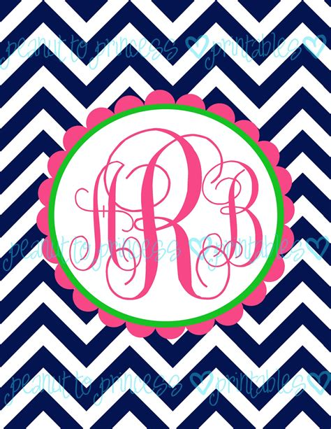 printable chevron binder covers 5 best images of free printable monogram binder cover