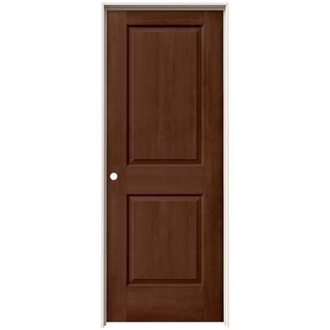 Jeld Wen 32 In X 80 In Cambridge Milk Chocolate Stain Prehung Interior Doors