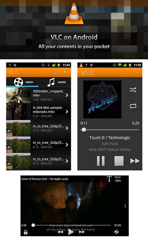 vlc media player for android vlc for android now officially available for megaleecher net