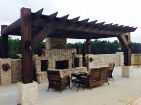 Pergola With Fireplace by Pergola And Outdoor Fireplace For The Home Pinterest