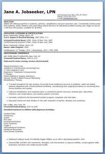 Nursing Career Objective Exles For Resumes Sle Lpn Resume Objective Nursing Nursing And Resume