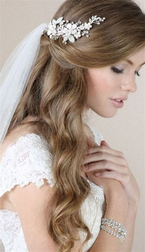 wedding hairstyle updos with veil wedding decor theme 30