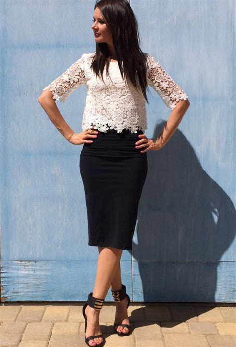 black and white lace top midi skirt los angeles