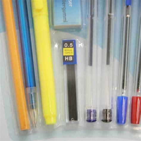 ufficio scuola set 15 pezzi confezione cancelleria per ufficio scuola