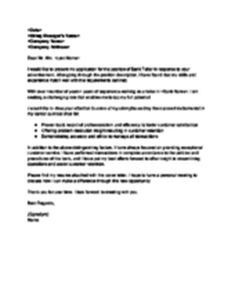 cover letter exles for bank teller writing a cover letter haadyaooverbayresort