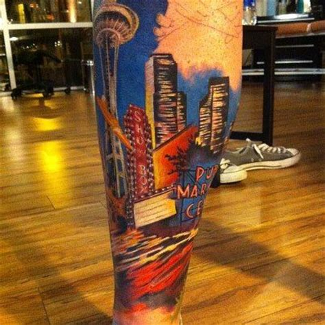 seattle space needle tattoo designs 1000 images about tattoos by justin johnson on