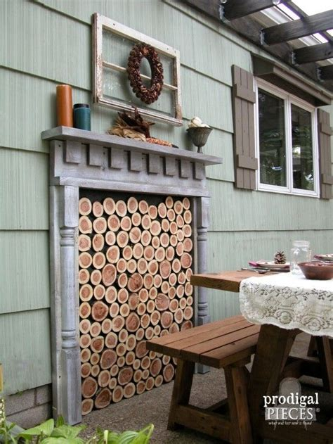 faux outdoor fireplace diy faux fireplace indoor or outdoor faux fireplace diy patio and patios