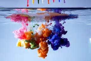 paint that changes color with water ink is amazing pics