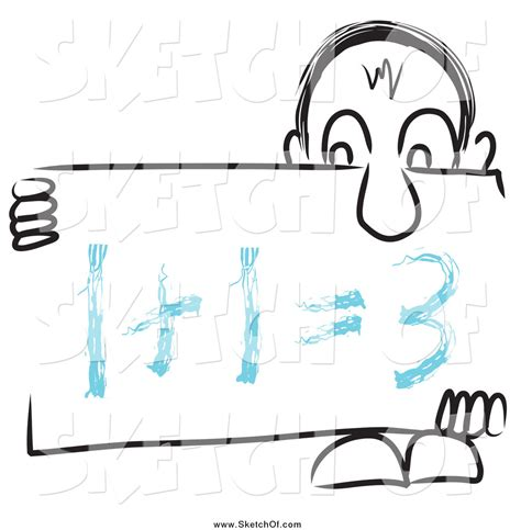Board Geometry Outline by Drawing Of A Nosed Sketch3d Holding A Math Sign Board By Macx 611