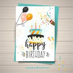happy birthday card template template for happy birthday card vector free
