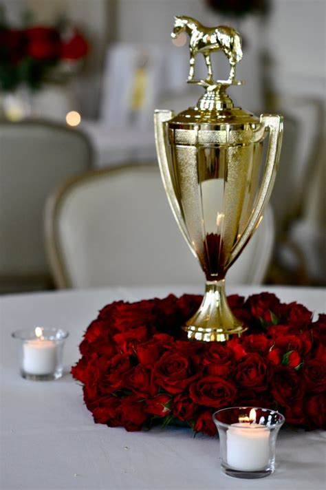 Trophy Decorations by Trophy Centerpiece Kentucky Derby Recipes