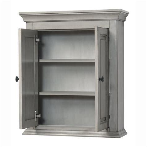 corsicana antique grey 24 quot x 28 quot wall cabinet