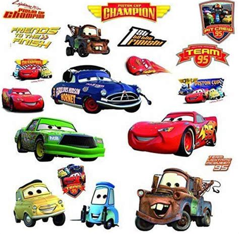 Disney Cars Wall Decals disney cars piston cup wall stickers mater 19 decals