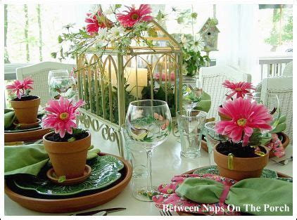 garden themed table decorations 111 best images about garden centerpieces on