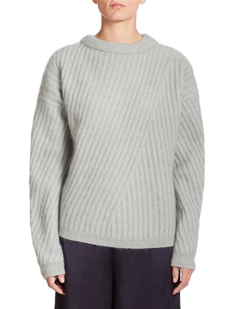 ribbed sweater lyst acne studios virdis mohair ribbed sweater in gray