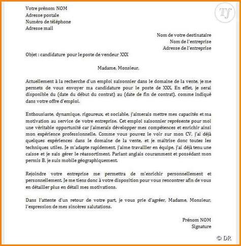Exemple De Lettre De Motivation Pour La Demande De Visa 6 Lettre De Motivation Pour La Vente Format Lettre