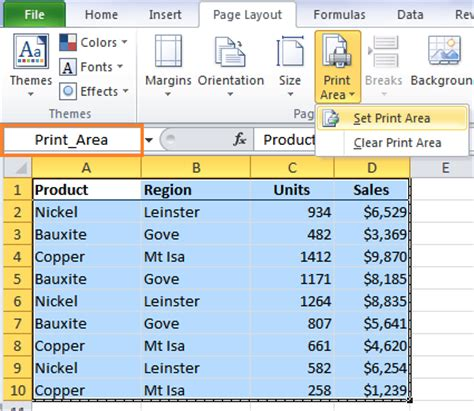 printable area excel excel factor 5 dynamic print area my online training hub