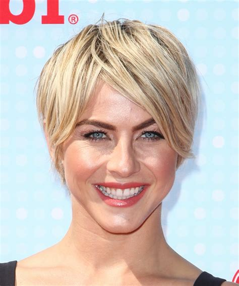 julianne hough thin hair julianne hough short straight casual hairstyle light blonde