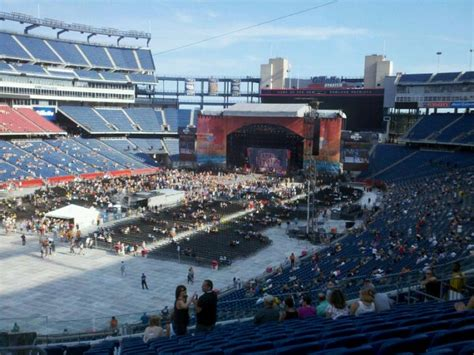 section 238 gillette stadium gillette stadium section 238 concert seating